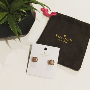 New Kate Spade Mini Rose Gold Round Studs